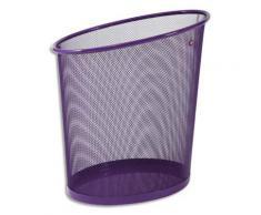 Corbeille à papier en métal violet - 18L - parure Mesh