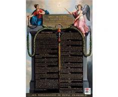 Poster éducatif effaçable à sec format 52 x 76cm, thème les droits de l'homme