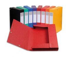 Boîte de classement Cartobox - carte lustrée 7/10e - dos 5 cm - 24 x 32 cm - coloris assortis : bleu, rouge, vert, noir, jaune