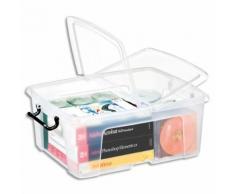 Boîte de rangement Smart Box Strata avec couvercle clipsé dims int.317x40,2x17,5cm transparent 24L