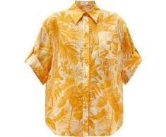 Zimmermann Chemise en voile à imprimé palmier Mae