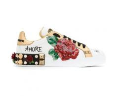 Dolce & Gabbana Baskets à appliqués fleurs