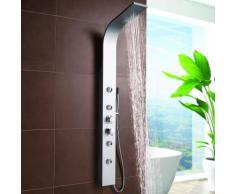 Colonne Douche Design Moderne Thermostatique Hydromassante Aluminium