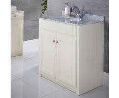 Meuble-lavabo Charlton Ivoire 80x82cm
