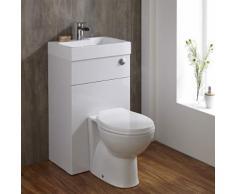 WC Avec Lave Main Intégré Gain Place Meuble Lavabo Céramique Blanche