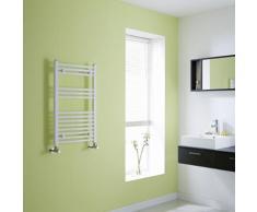 Sèche-Serviettes Design Incurvé Acier Blanc 80 x 50cm - 426 Watts