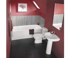 Ensemble Salle de Bain Baignoire Lavabo et Toilette WC Design Moderne