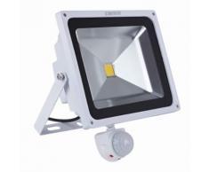 Biard Projecteur LED 50 Watts Avec Détecteur Éclairage Extérieur Blanc
