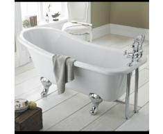 Baignoire Îlot Sabot Style Rétro Sur Pieds Acrylique Blanc 169x73cm