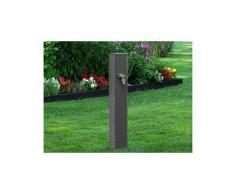 Fontaine de jardin pixel en fonte grise 7016