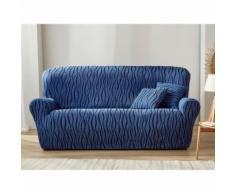 Housse extensible jacquard imprimé fauteuil canapé