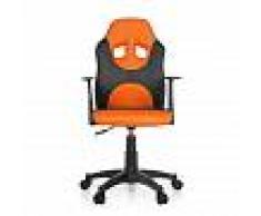 hjh OFFICE KID RAYCER AL - Chaise pivotante pour des enfants Noir / Orange
