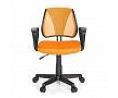 hjh OFFICE KIDDY CD - Chaise pivotante pour des enfants Orange