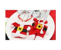 Porte-couvert Père Noël : 4 Packs de 3 pantalons et 3 manteaux