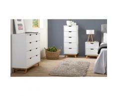 Meuble de rangement pour chambre : Chiffonnier / Blanc