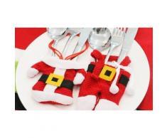 Porte-couvert Père Noël : 2 Packs de 3 pantalons et 3 manteaux