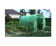 Serre de jardin maraîchère renforcée avec étagères : 8 m²