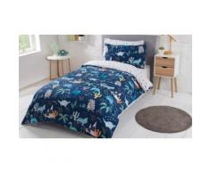 Lot de 2 parures de couette réversibles enfant ou adolescent : Double / Enchanted Animals