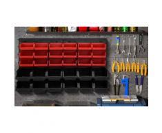Panneau mural avec 30 casiers à outils pour atelier ou garage