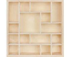 Petite étagère en bois, carré, 35 x 8 x 35 cm