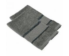 buttinette Serviettes invité à broder en tissu éponge, granite, 2 pièces