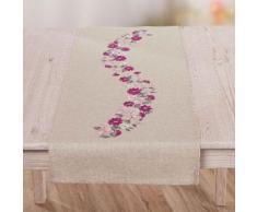 """Chemin de table """"fleurs roses"""""""