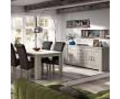 Kasalinea Salle à manger contemporaine couleur bois clair opaline