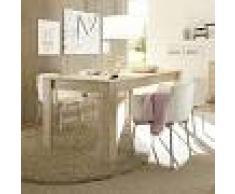 Kasalinea Table de salle à manger couleur bois moderne plume