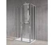 Novellini Cabine de douche avec 3 côtés pliables Free 2U 70x90 - Acrylique circulaire - Bl