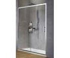 Novellini Zephyros 2P 122 Cabine de douche à porte coulissante - Niva - Noir