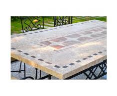 Table de jardin mosaïque en pierre naturelle 160-200-240cm - TAMPA