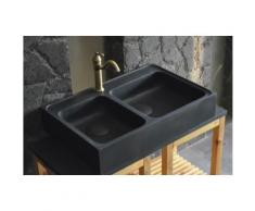 KARMA SHADOW : Évier en pierre pour cuisine 90x60 Granit noir
