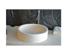 Vasque en pierre ronde Dia 40 marbre Égyptien - RONDO SUNNY