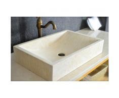 Vasque pierre naturelle de marbre d'Égypte 60x40 - TORRENCE SUNNY