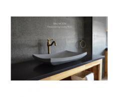 60X40 Vasque à poser en pierre de basalt Gris BALI MOON