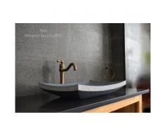 60X40 Vasque à poser en pierre granit véritable - BALI