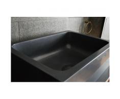 WALABI SHADOW : Évier de cuisine Sous plan en noir Luxe 70x47