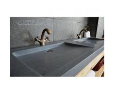 Double vasque plan en pierre Granit 160x50 luxe - FOLE'GE