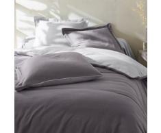 Linge de lit bicolore flanelle