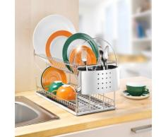 Egouttoir vaisselle 2 niveaux