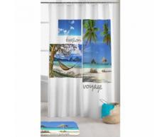Rideau de douche motif Cancun