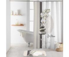 Rideau de douche imprimé orchidée