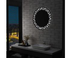 vidaXL Miroir à LED pour salle de bain 80 cm