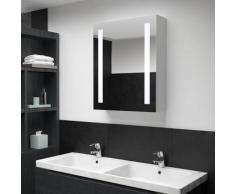 vidaXL Armoire de salle de bain à miroir LED 50x13x70 cm