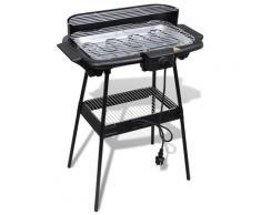 vidaXL Barbecue rectangulaire électrique de jardin