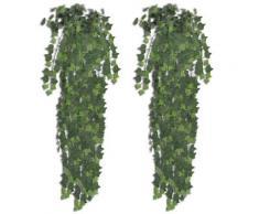 vidaXL Plantes artificielles 2 pcs Lierre Vert 90 cm