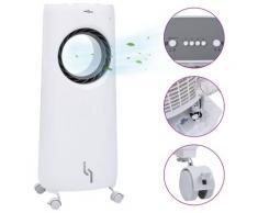 vidaXL Humidificateur refroidisseur d'air mobile 2 en 1 80 W