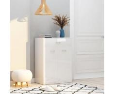 vidaXL Armoire à chaussures Blanc brillant 60x35x84 cm Aggloméré