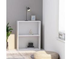 vidaXL Bibliothèque à 2 niveaux Blanc 60x30x76,5 cm Aggloméré