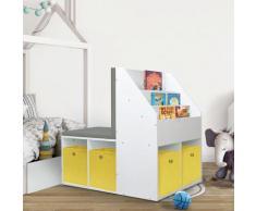 vidaXL Armoire pour enfants avec banc Blanc 60x78x78 cm MDF